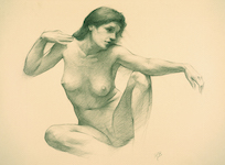 R. Bongers, Seated Nude